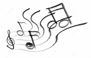 music-icon-crayon-sketched-illustration-some-notes-musical-symbols-32094381